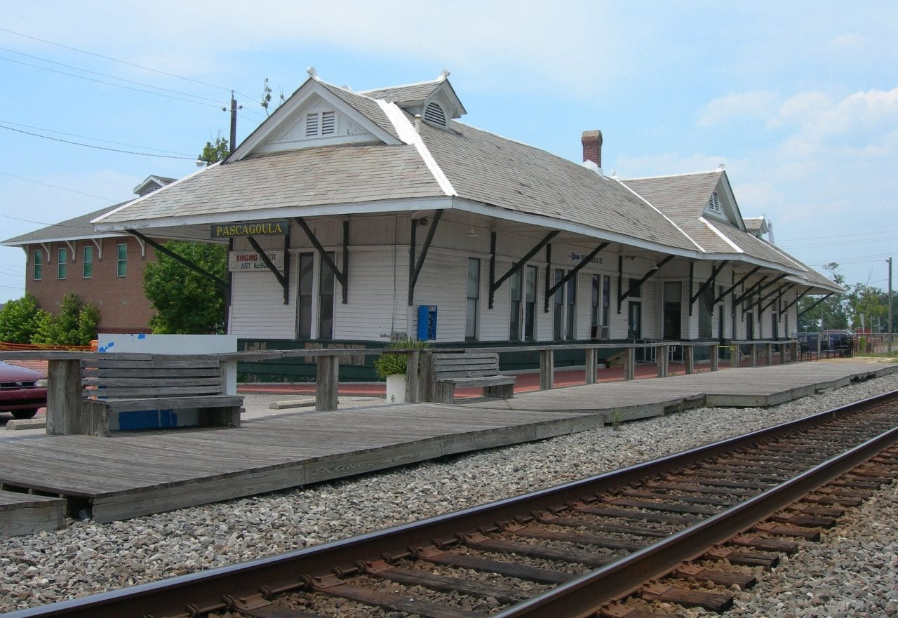 Pascagoula Train Depot by Jimmy Emerson, DVM via Flickr 2.0