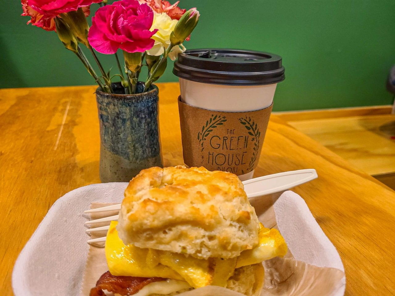The Greenhouse Biloxi Breakfast Sandwich