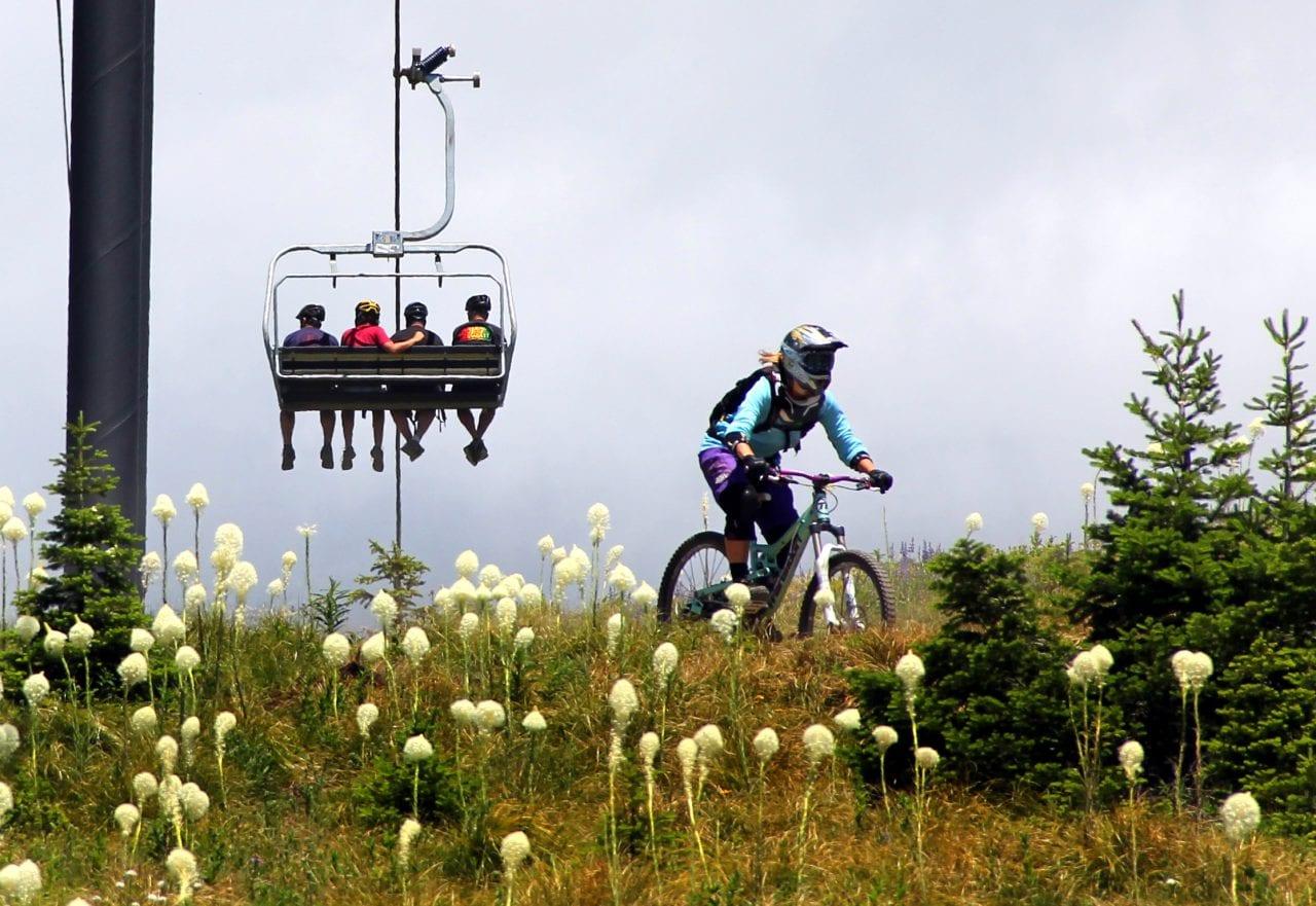 Mountain Biking Whitefish Mt. Resort photographed by Brian Schott