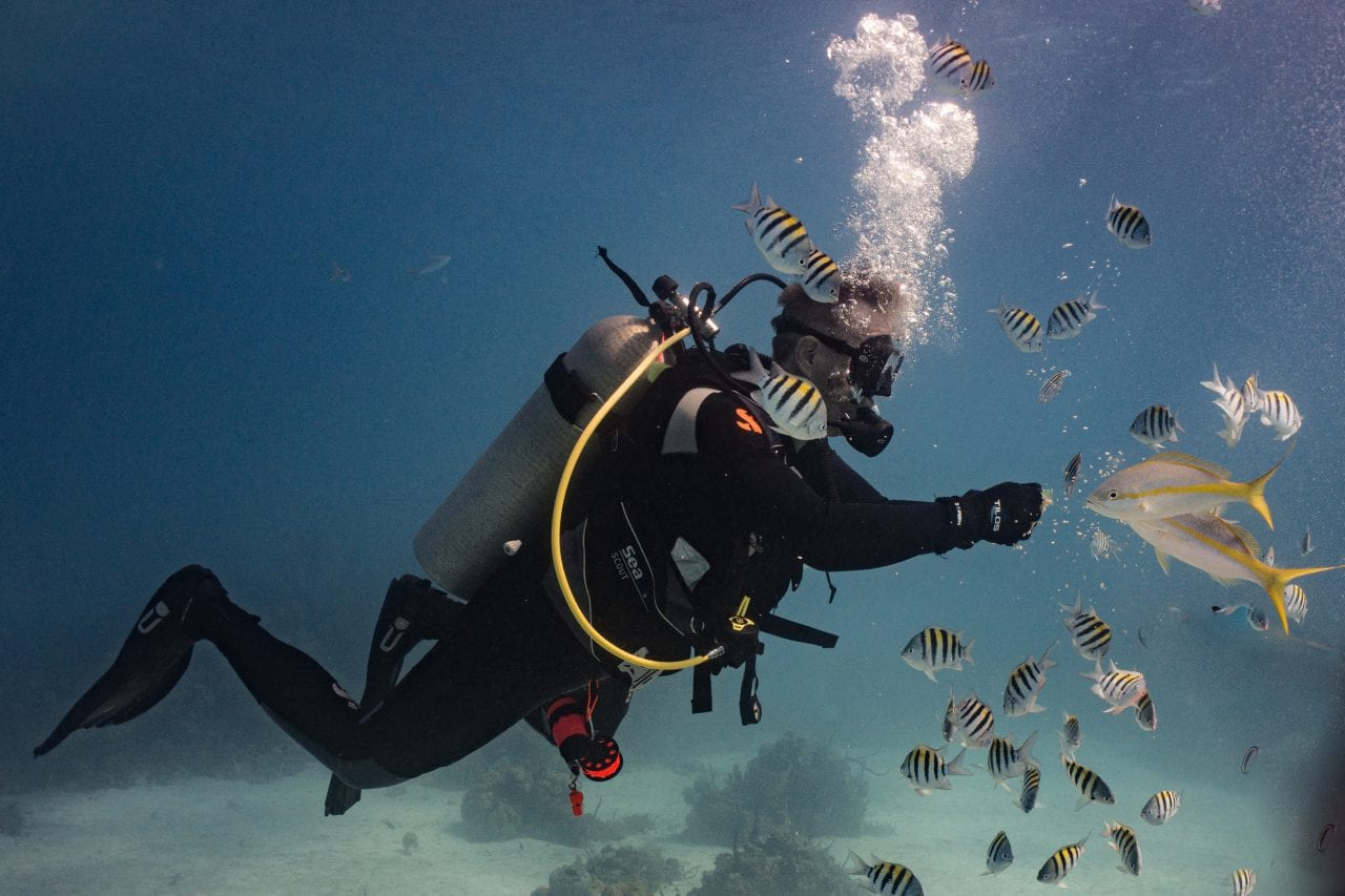 Ed diving at Periwinkle Reef