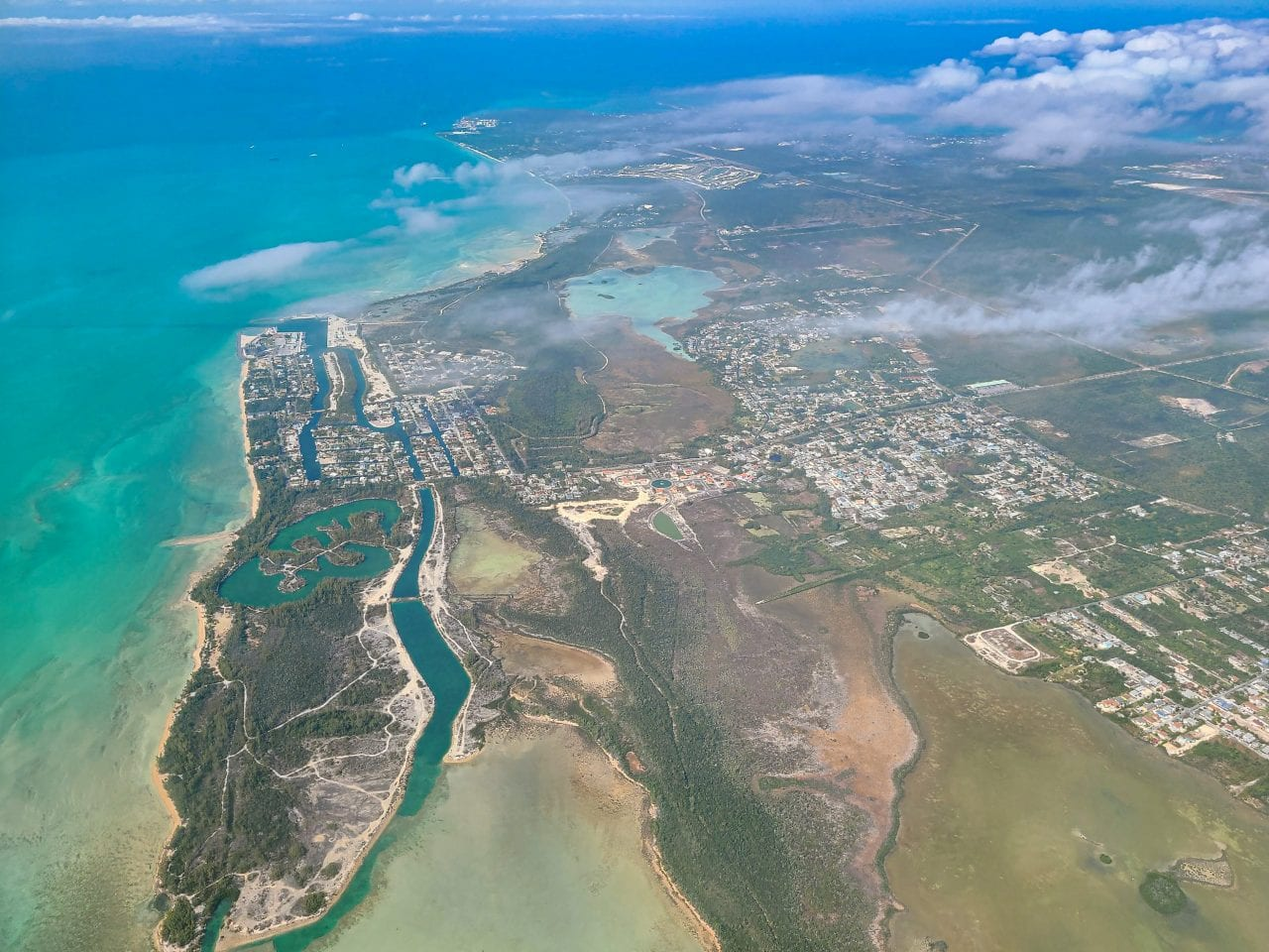 Nassau Bahamas from the air