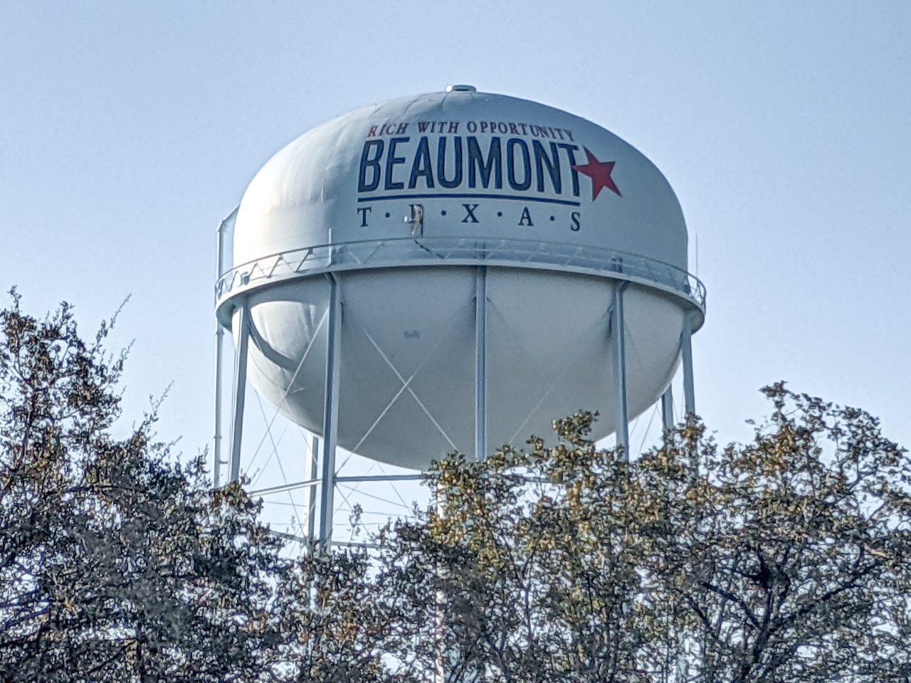 Beaumont biking Water Tower