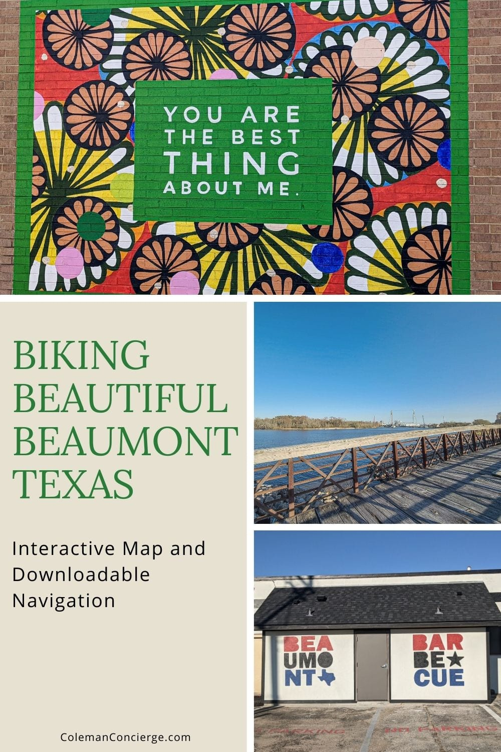 Collage of sights in Beaumont texas