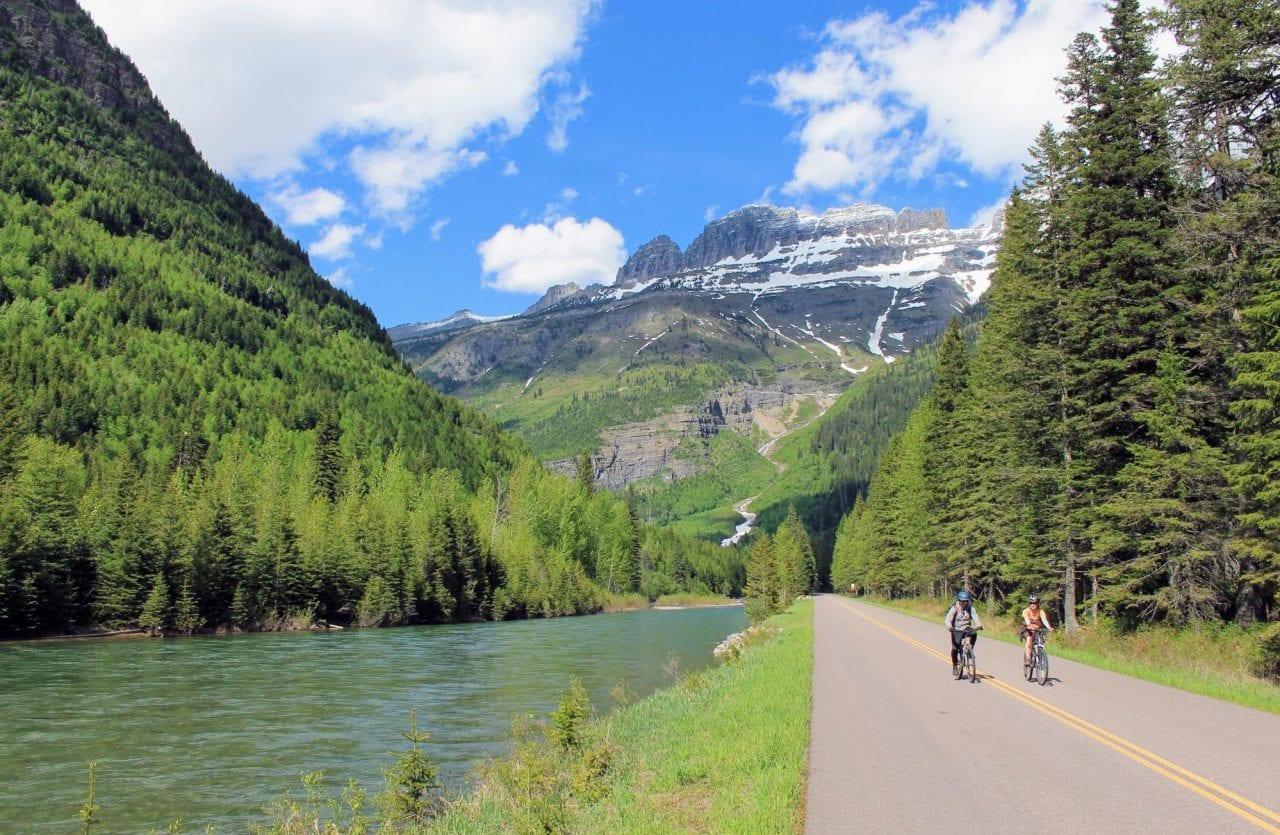 Biking in Glacier National Park taken by Brian Schott