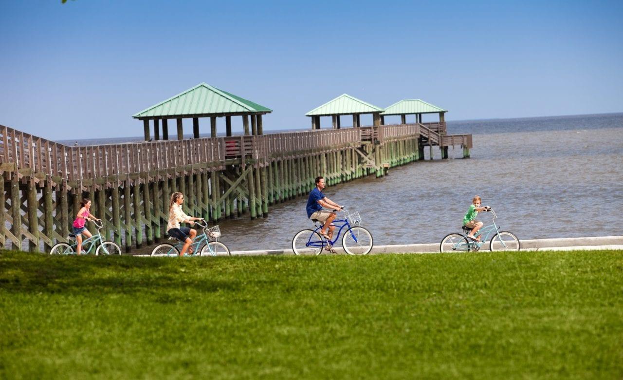Biking in Ocean Springs- Credit Coastal Mississippi