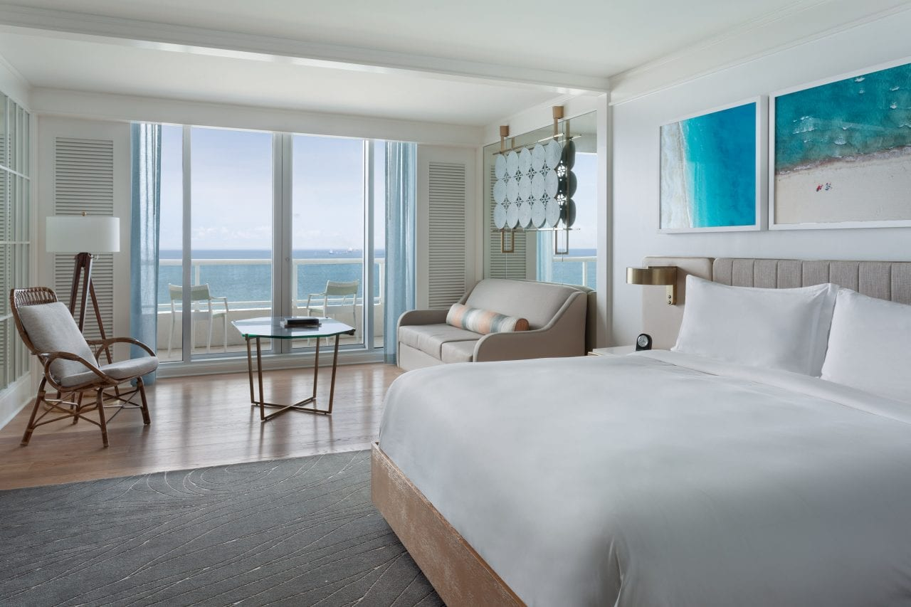 Guest room via The Ritz-Carlton, Fort Lauderdale