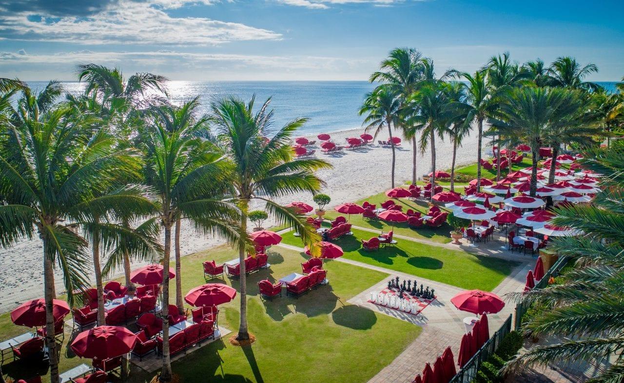 Landscape shot via Acqualina Resort