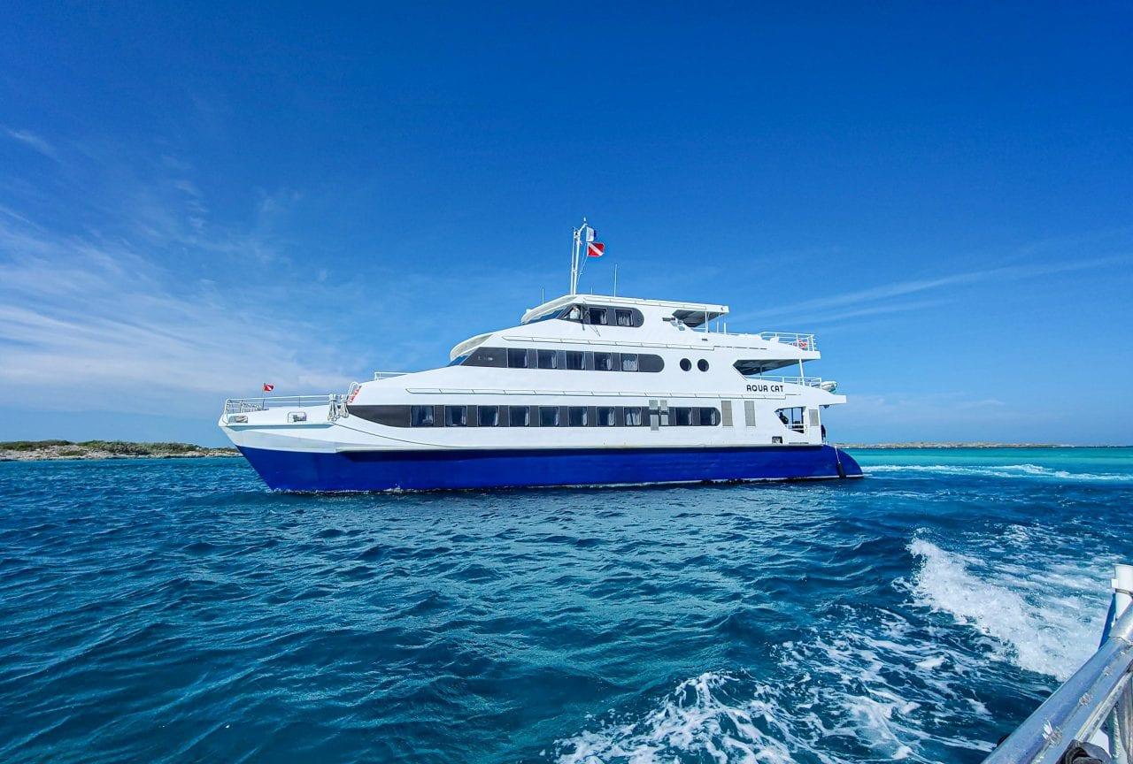 Leaving the Aqua Cat on the Sea Dog