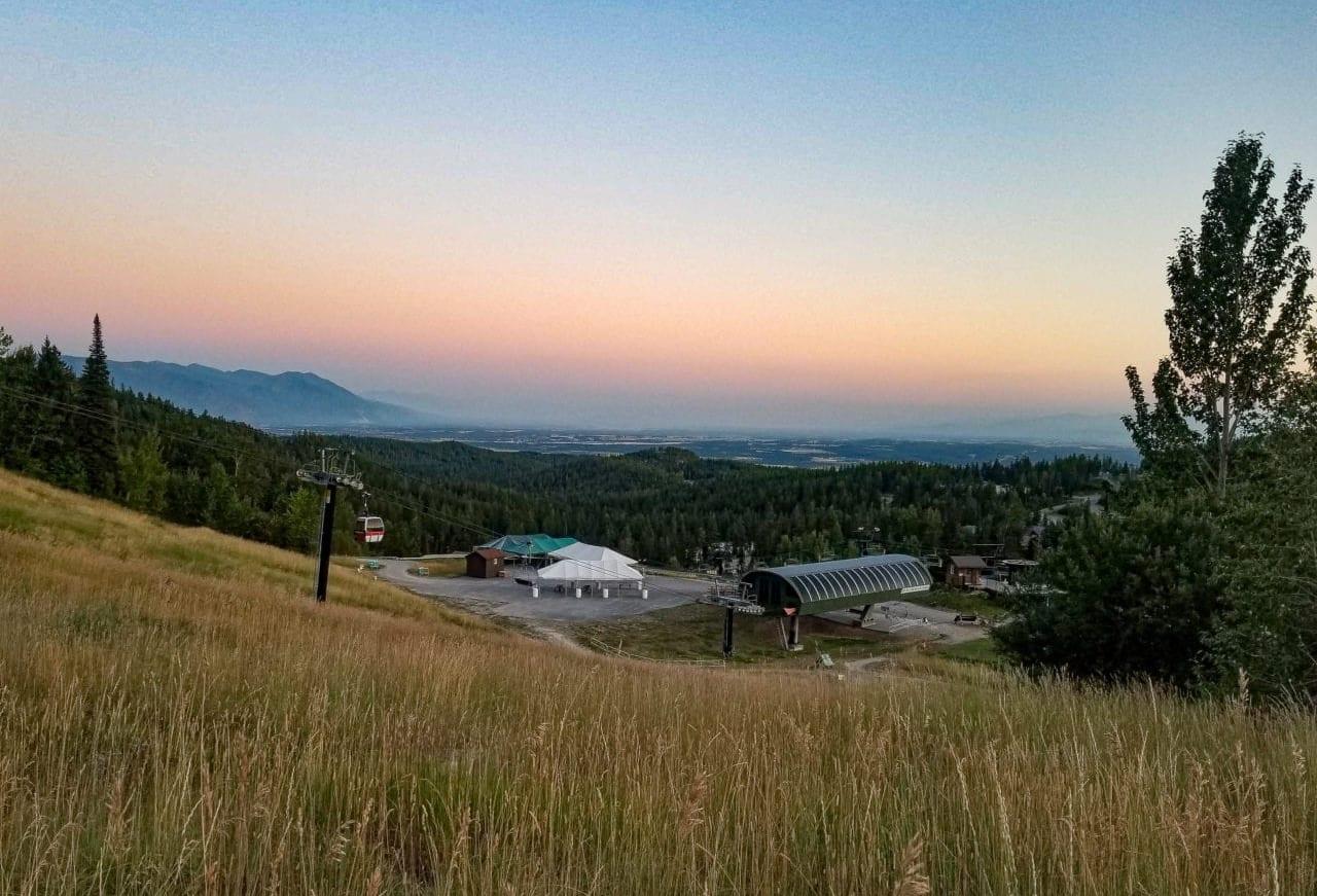 Whitefish-Mountain-Resort-at-sunset