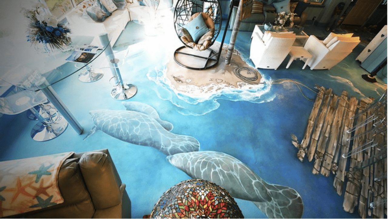 floor via via Crystal Blue Lagoon Bed & Breakfast