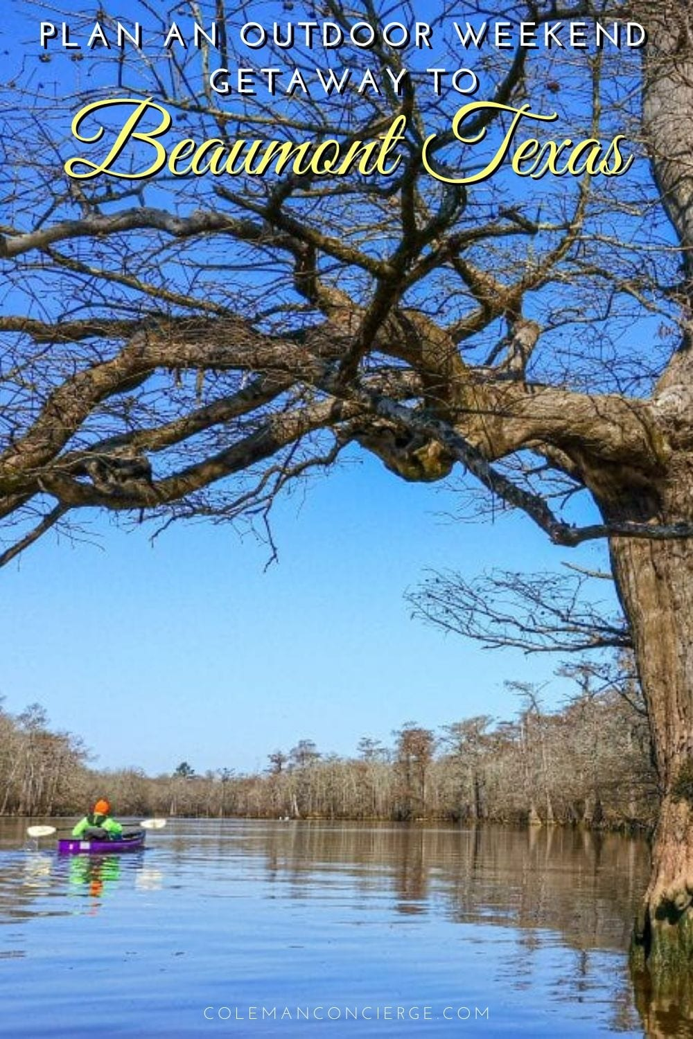 Kayaking Big Thicket Beaumont Texas