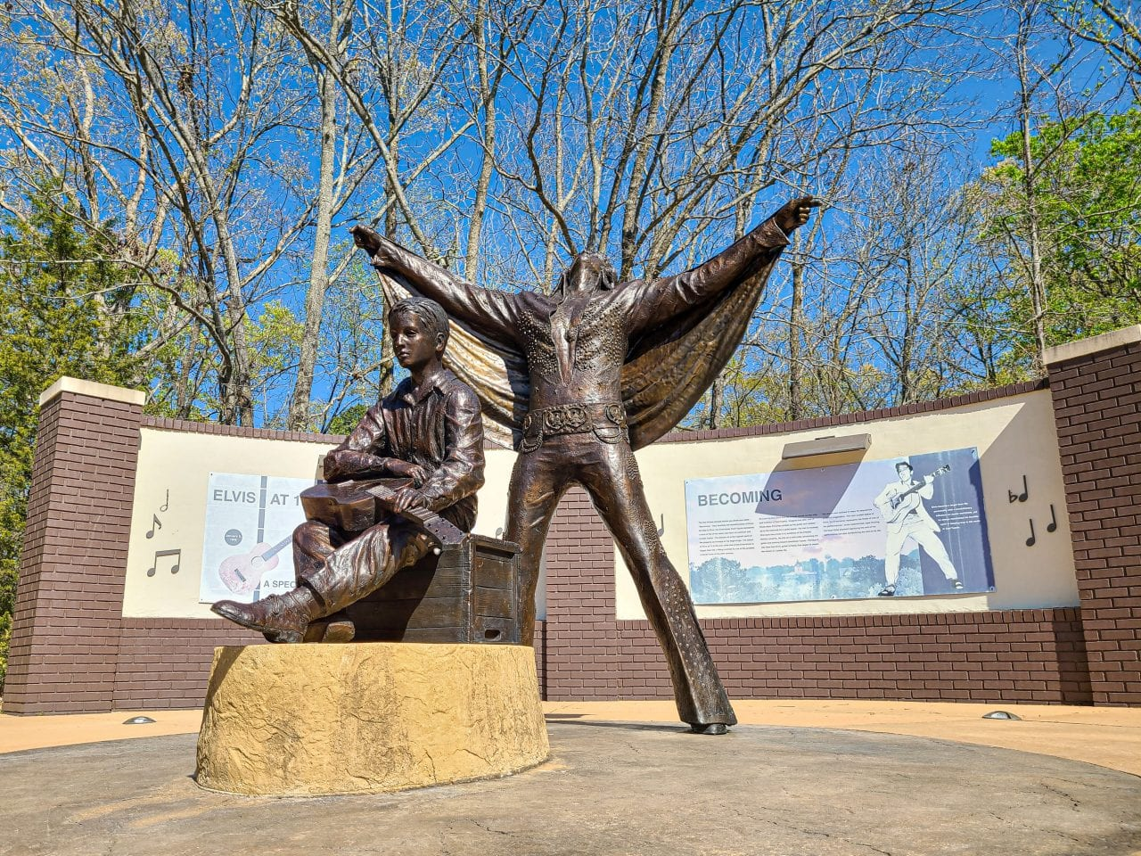 Becoming Statues at the Elvis Birthplace