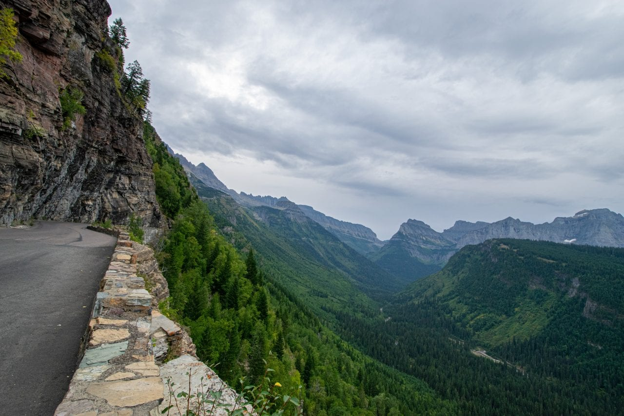 Viewpoint from the Going to the Sun Road bike ride