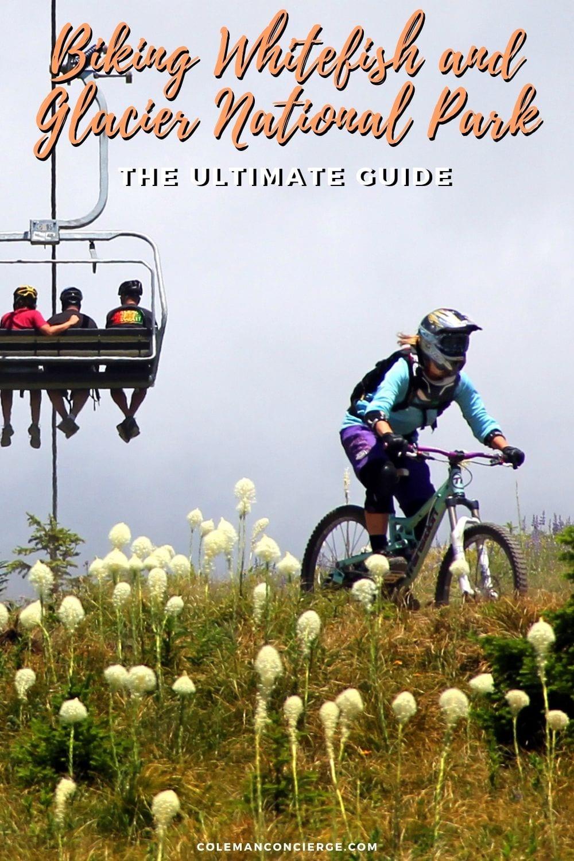 Mountain biking on Whitefish Mountain Resort