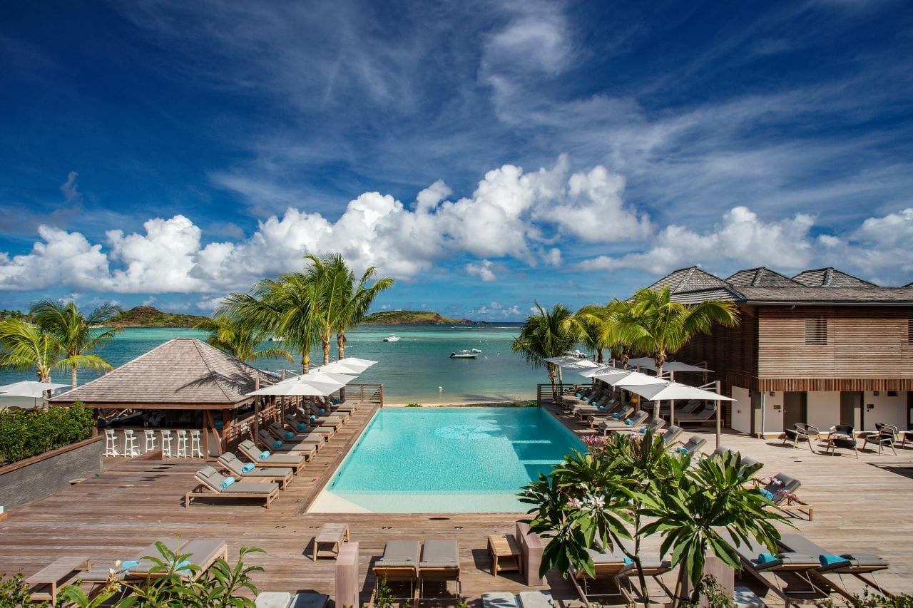 Aerial Image of Le Barthelemy Hotel & Spa via Le Barthelemy Hotel & Spa