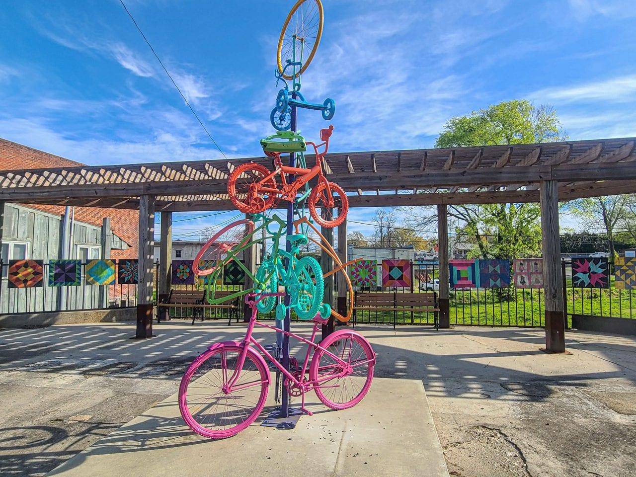 Tanglefoot Trailhead bike art