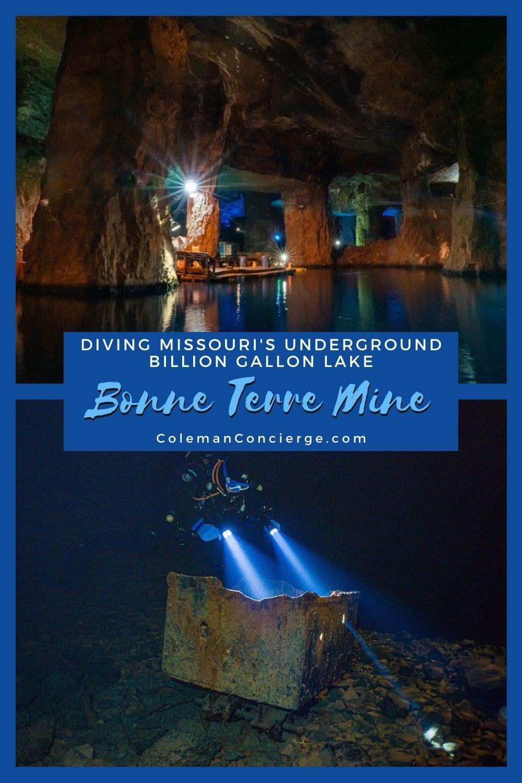 Images of diving Bonne Terre Mine