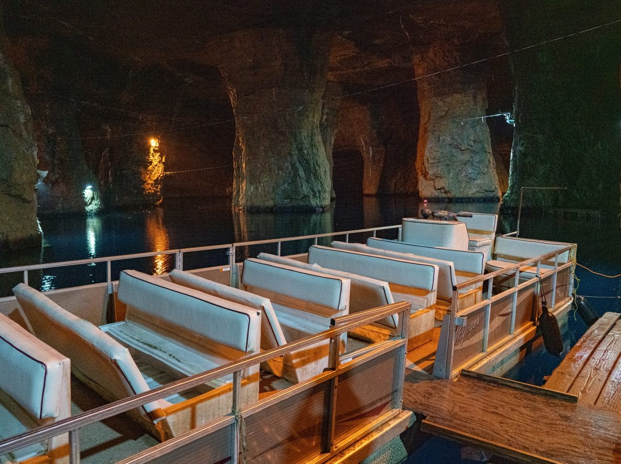 Boat at the Bonne Terre Mine
