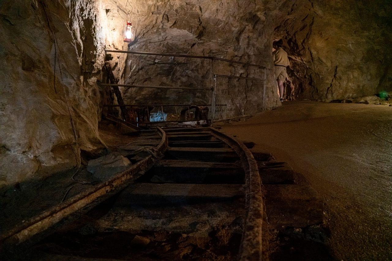 Train track in the Bonne Terre Mine