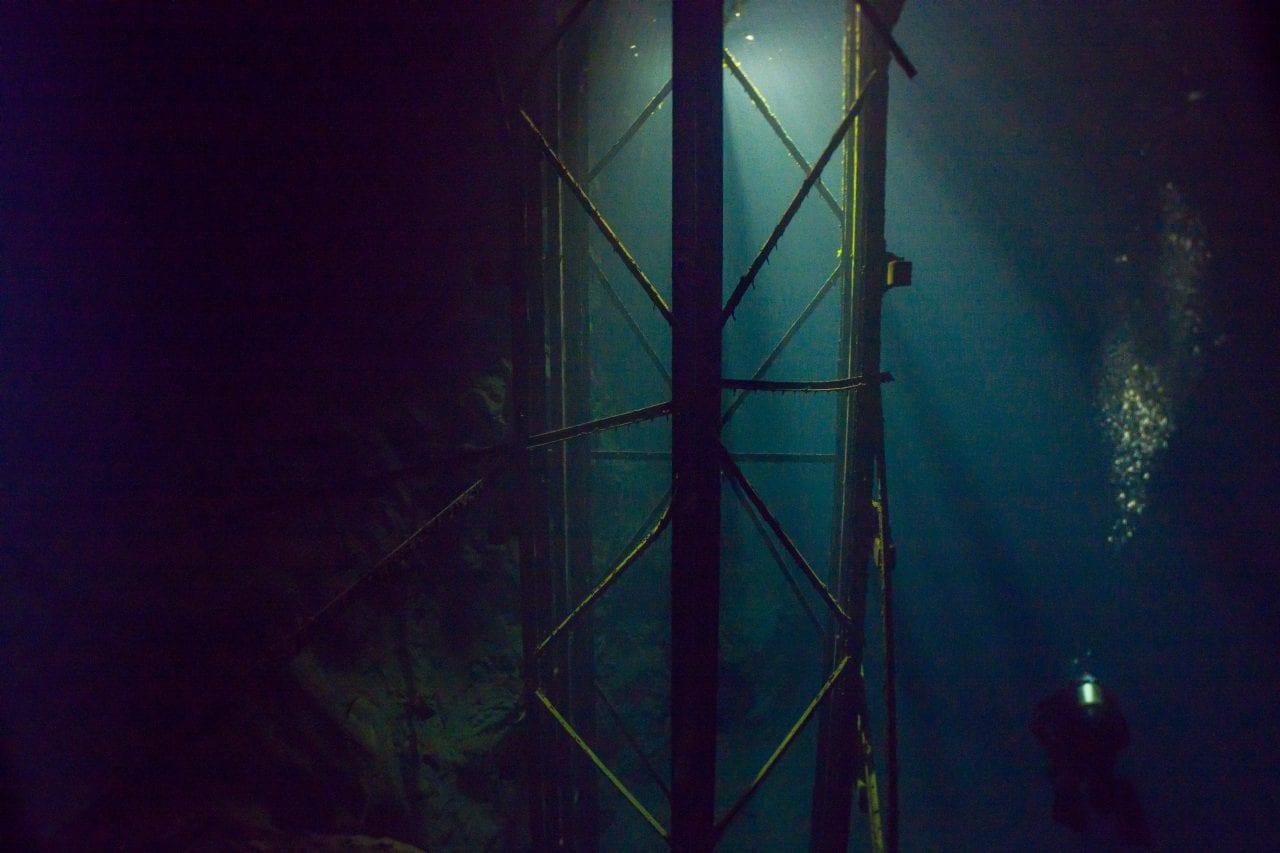 Elevator structure in Bonne Terre Mine