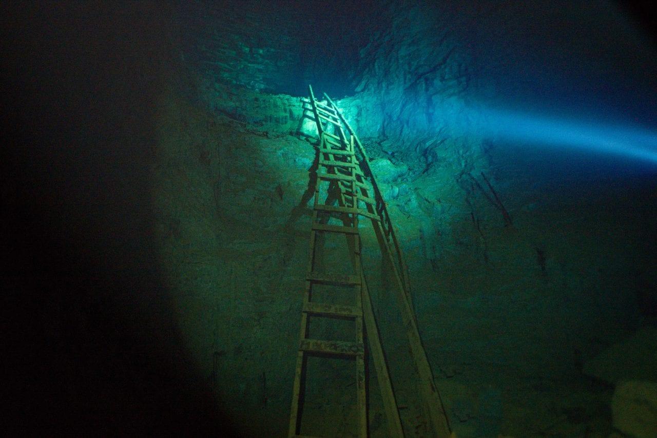 Flooded ladder at the Bonne Terre Mine