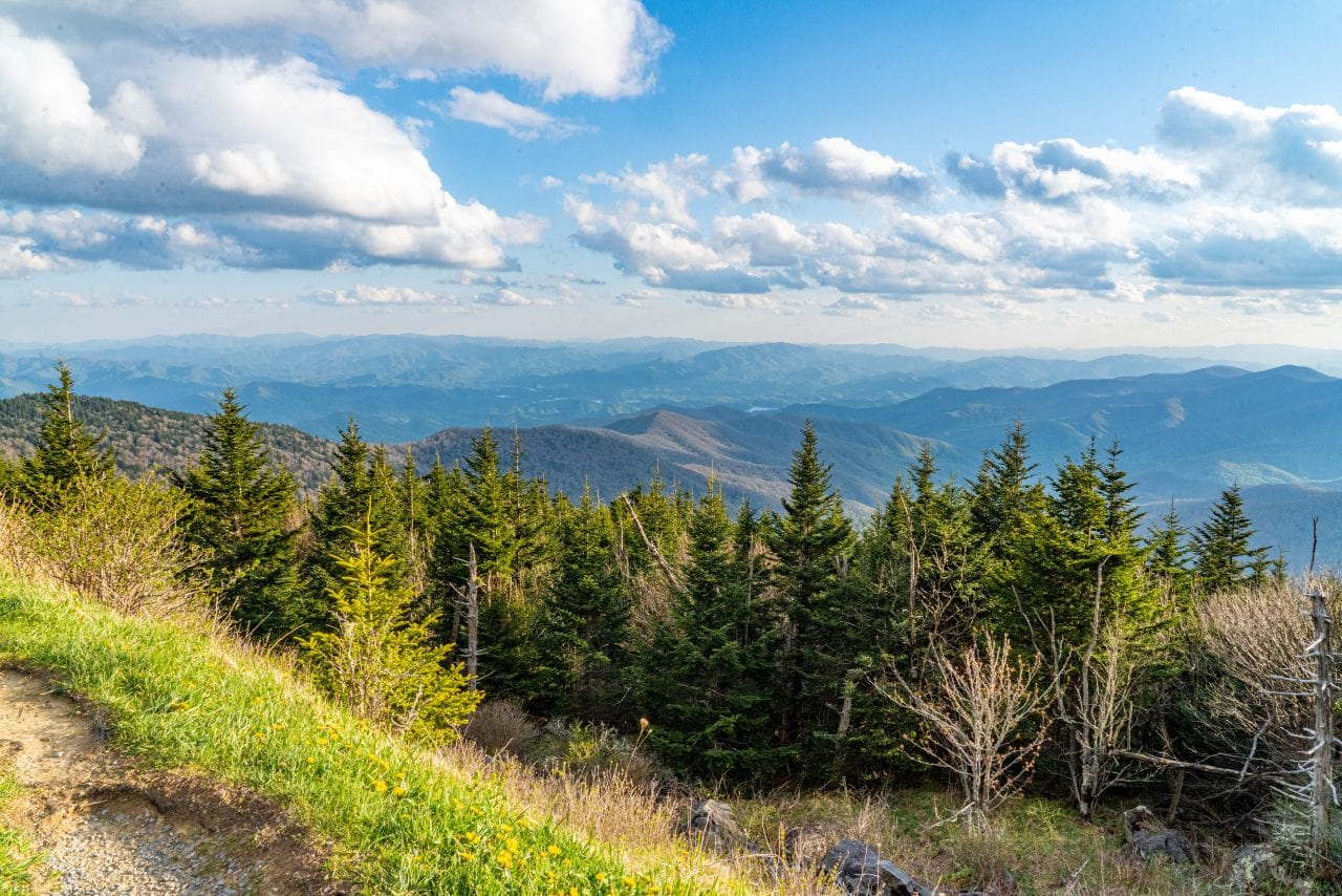 View from the Clingmans Dome trail