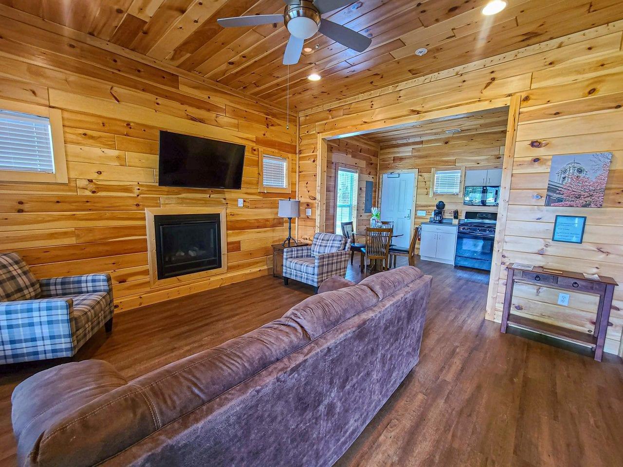 Jackson County Park cabin living room