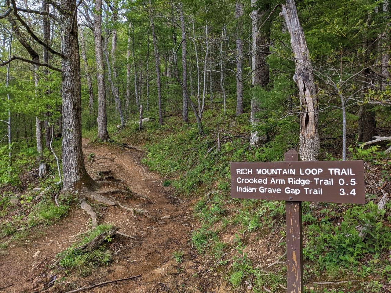 Rich Mountain Trailhead