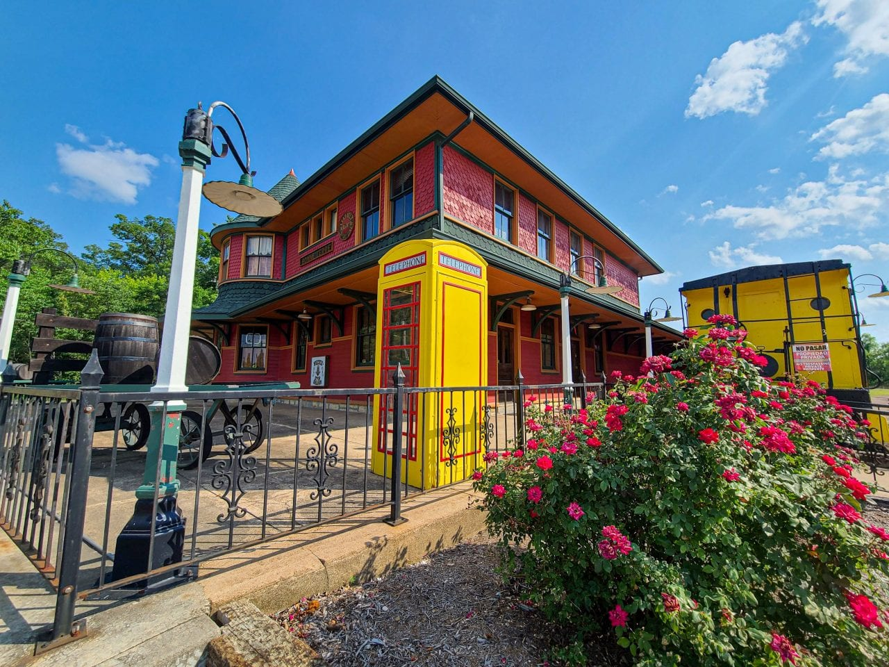 The Depot and Caboose Bonne Terre Missouri_