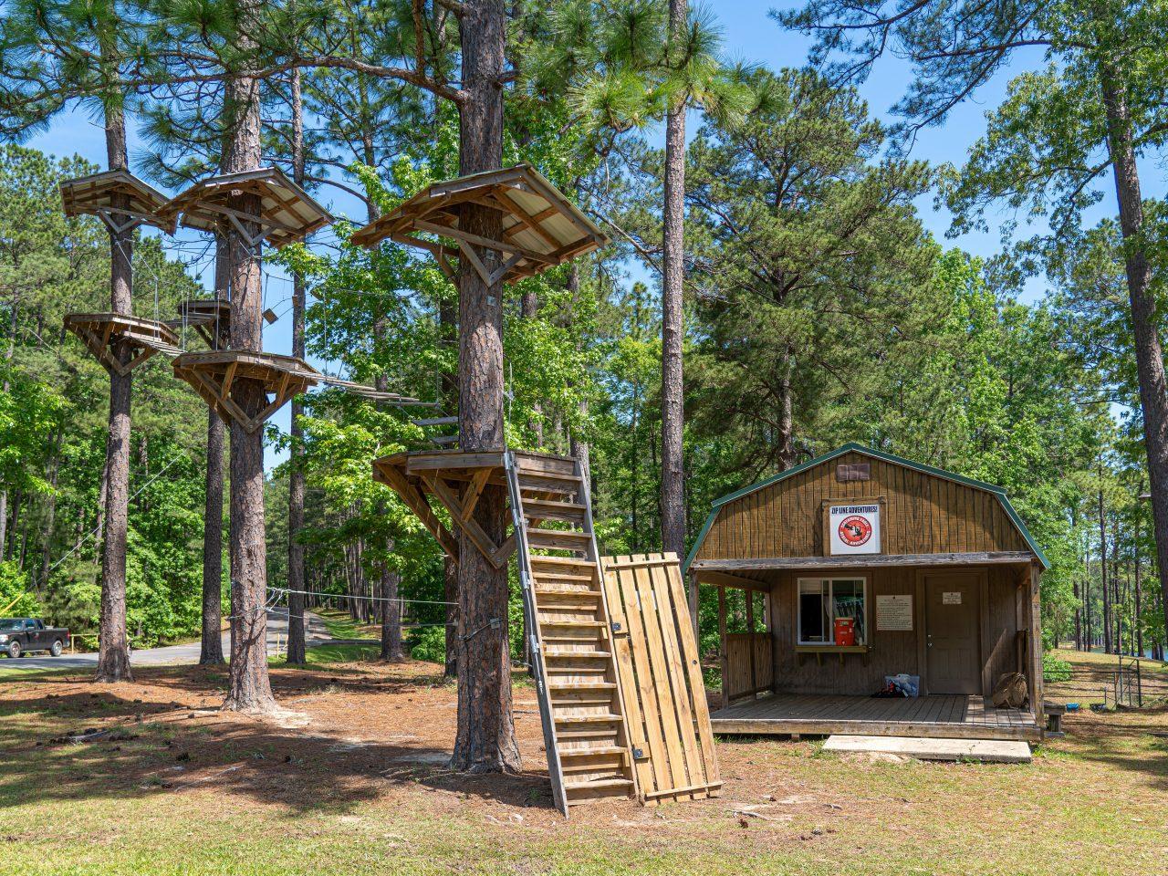Aerial adventure headquarters