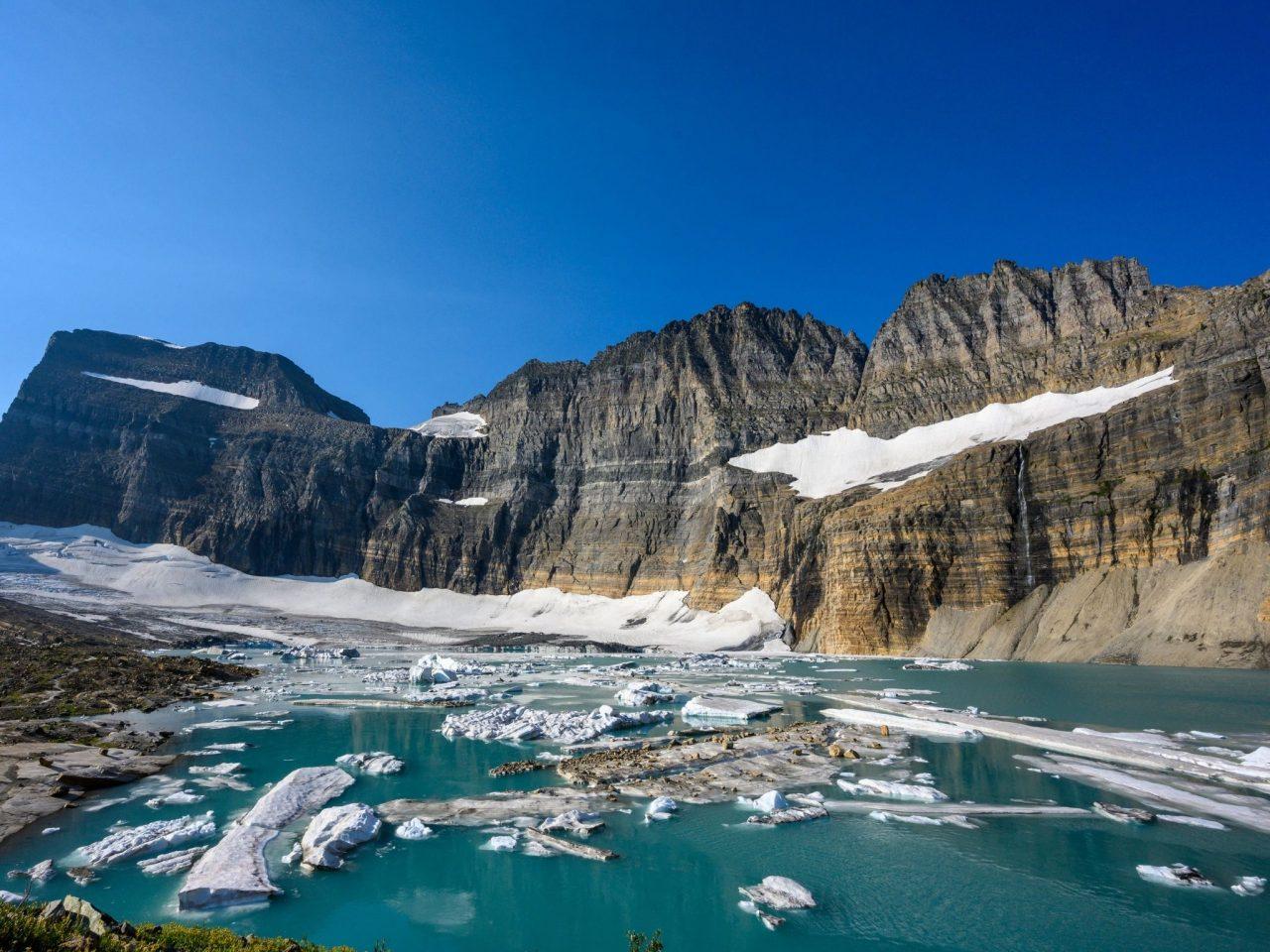 Grinnell Glacier Glacier National Park via Canva