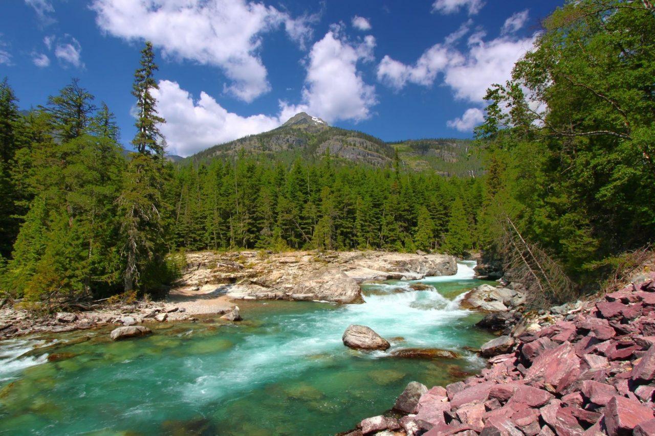 McDonald Creek Trail Glacier National Park via Canva 2.2
