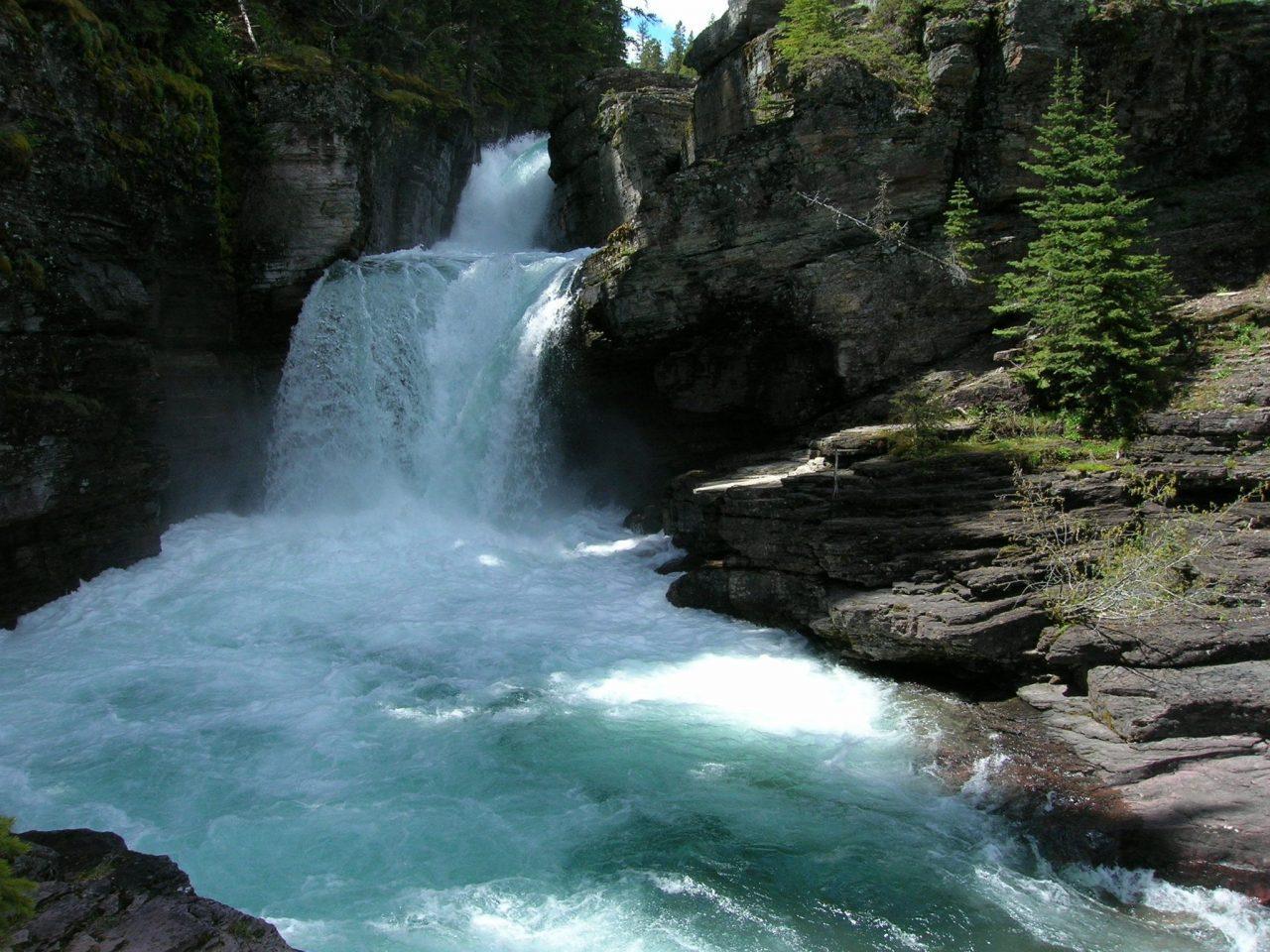 St Mary Falls Glacier National Park via Canva