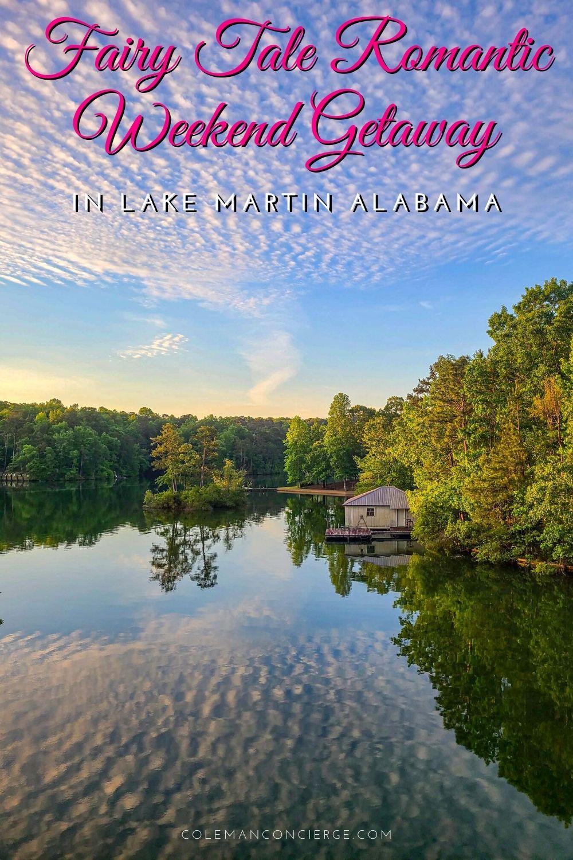 Lake Martin Alabama at sunrise