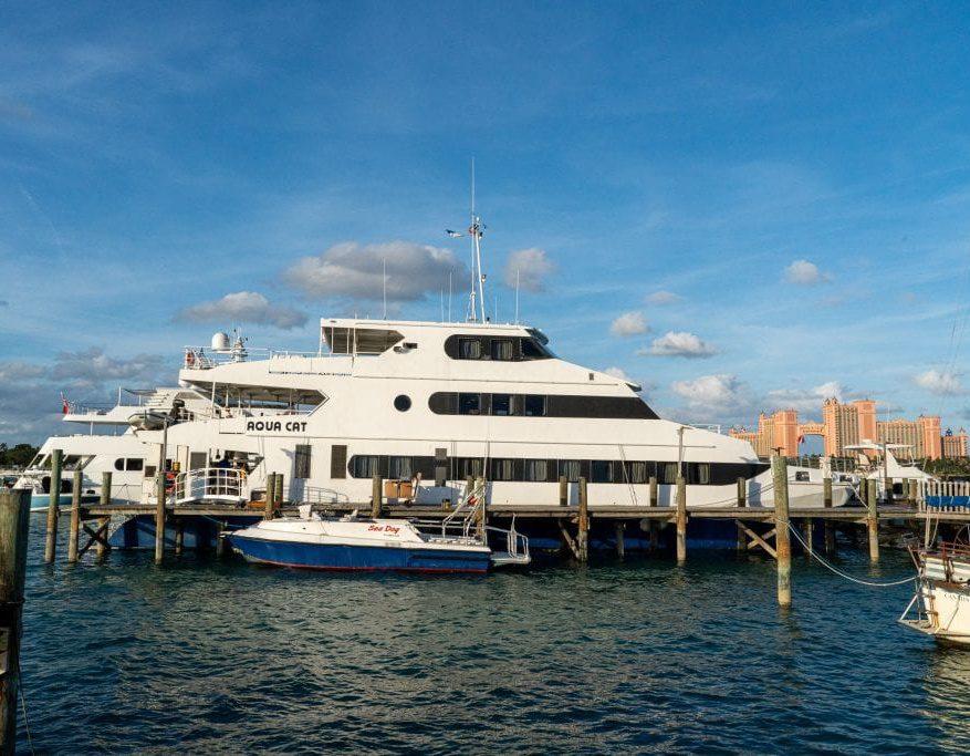 Aqua Cat in Harbor