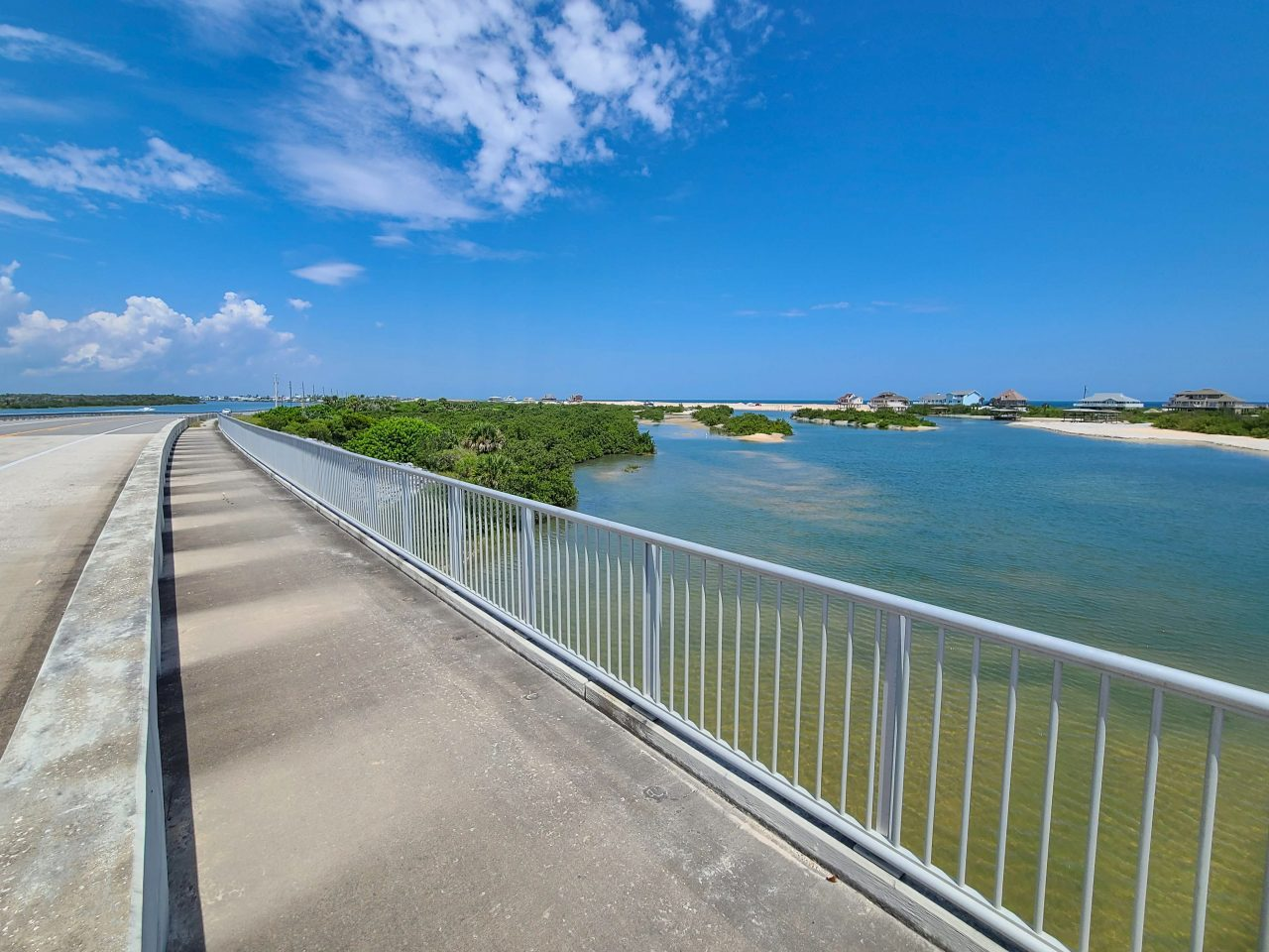 A1A Flagler to St. Augustine- riding over the Matanzas Inlet