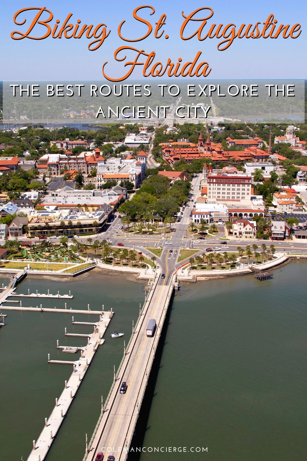 Aerial view of St Augustine Florida